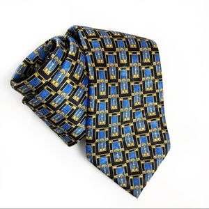 Lanvin silk print tie